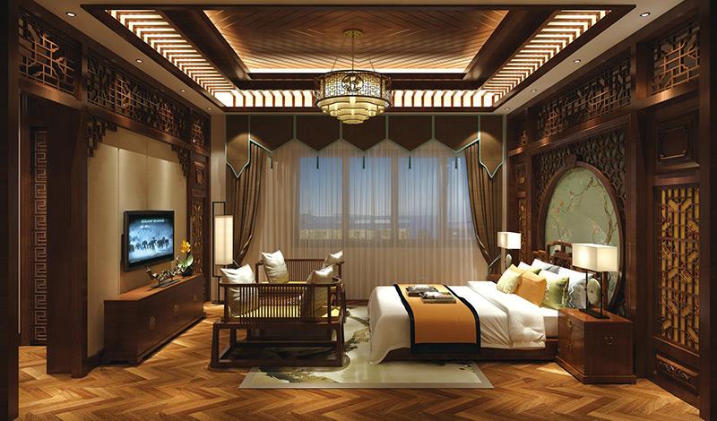广州酒店中式客房家具配套 HTTF14