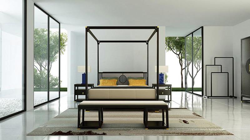 中式设计酒店客房家具 HTTF18